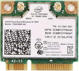 Dual Band, WiFi AC, Intel 7260HMW Bluetooth 4.0 Intel Wireless - N7260