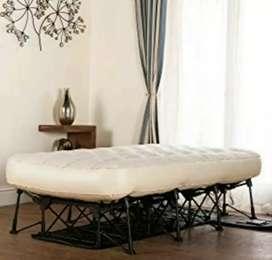 Ranjang Tidur+Kasur Pompa (bisa dilipat)