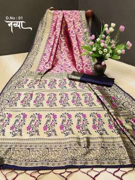 Banarasi Silk with Heavy Weaving Rich Pallu