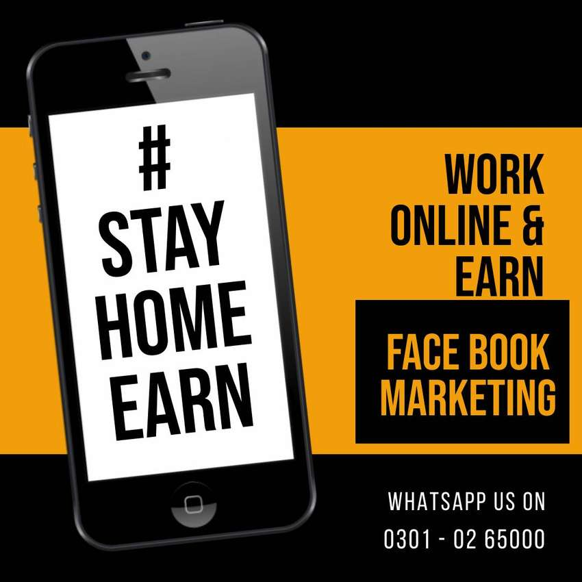 We need you for our team face book marketing work
