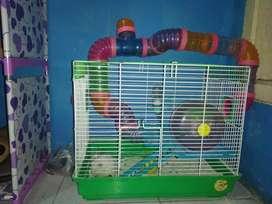 Kandang hamster fullset berserta isi