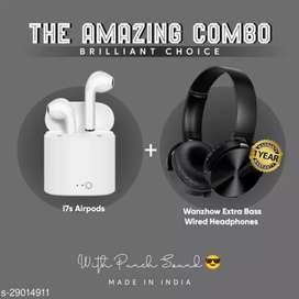 Best combo offer ear pods+ headphone