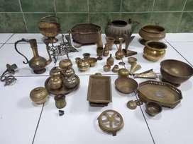 Jual borongan kuningan barang antik bekas koleksi bapak murah sidoarjo