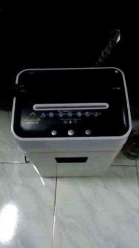 Mesin penghancur kertas + mesin hitung uang layanan service bergaransi