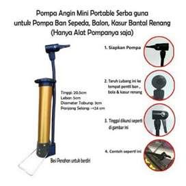 Pompa Sepeda Portable Mini Pump Bicycle Pompa Angin Serbaguna - Manual