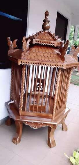 Kandang ayam peliharaan kayu jati 013
