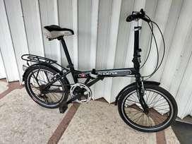 Dijual sepeda lipat frame lurus ukuran 20 ori pabrik
