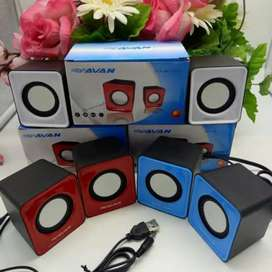 Speaker laptop 2 tabung usb packing
