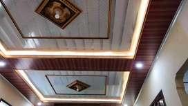 Plafon PVC terpasang plus matrial
