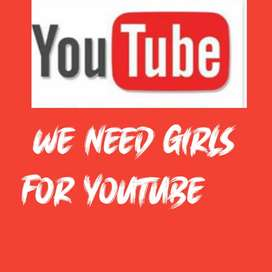 We are hiring girls for YouTube channel interviews