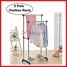 It is Adjustable and Portable Clothes Rack hanger