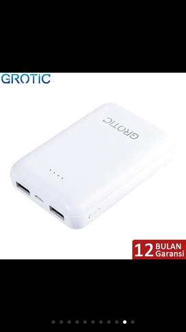 power bangk grotic 8000mh mini dual usb
