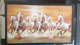 Seven horse framed picture