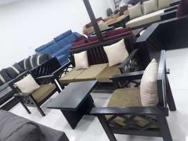 Wooden sofa 5 seater