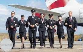 Ground staff and cabin crew