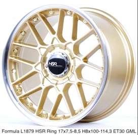 Velg Hsr wheel Ring17X75/85 H8x100/1143 Et30 gold ml R