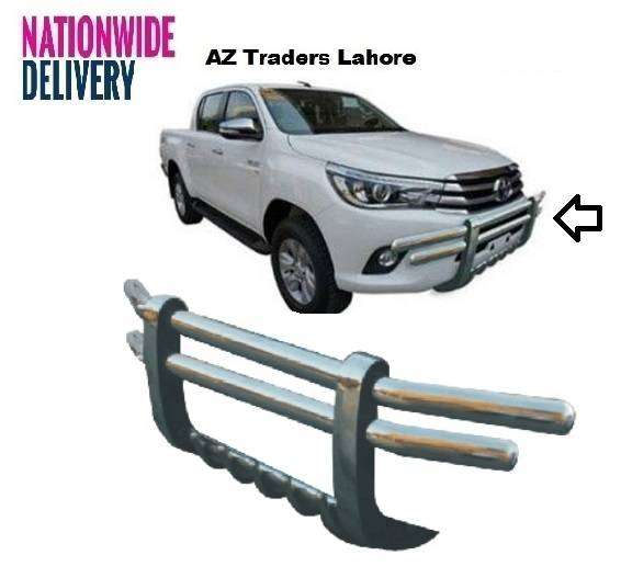 Front Bumper Grill Bull Bar Safety Guard Chrome Toyota Hilux Revo New 0