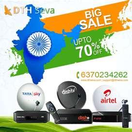 DISH TV SET TOP BOX, AIRTEL SETUP BOX, DTH, LED TV, TATA SKY 1499, D2H
