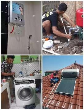 Pasang dan service ac Water heater Pompa air Kulkas Mesin cuci