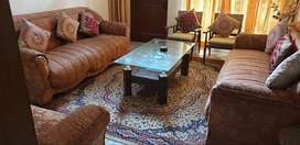 Sofa set 3 seater with center table & mini table