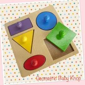 Mainan Geo Baby Knop 5 Puzzle