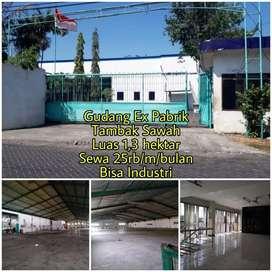 Gudang Sewa ex pabrik dekat Juanda Rungkut Berbek Bisa Industri