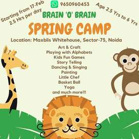 Spring Camp for age 2.5yrs to 7 yrs