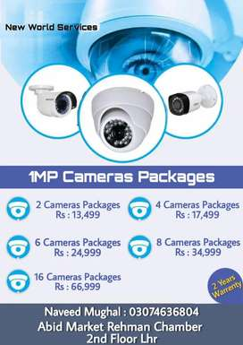 Cctv Dahua And Hikvision Cameras in 2 years warranty