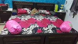 45000 Single two beds with two side table without mattress