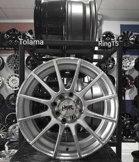 velg mobil elegan ring 15x6 silver h8x100-114,3