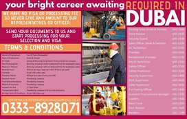 PACKING LABOR/SECURITY Guards/Receptionist/Cooks Required in D-U-B-A-I