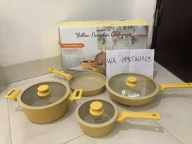 Swiden yellow pumpkin cookware set