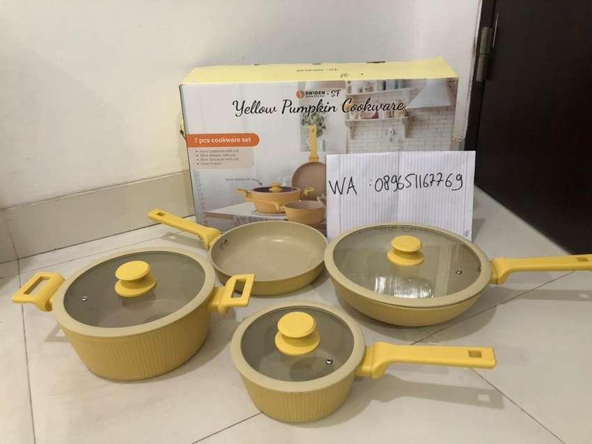 Swiden yellow pumpkin cookware set 0