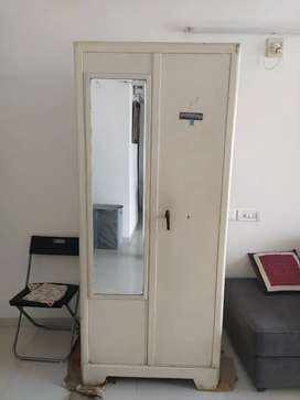 Old iron cupboard with mirror