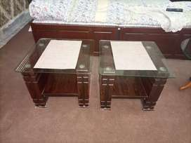 2 small and 1 centre table glass top
