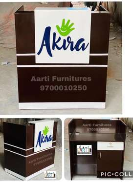 Customised cash counters reception tables office tables from