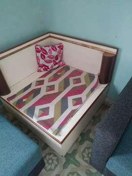 Corner table with storage