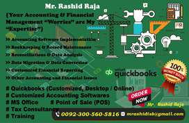 I provide quickbooks, pos, accounting software, tax consultancy Rwp