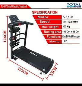 Alat fitnes treadmill elektrik tl 607 promo