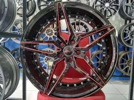 Jual Velg Racing BMW Type MANCHESTER R20 Bk Red HSR Wheel