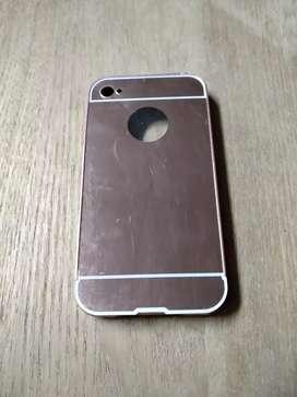 Casing Fashion Bumper side Mirror Iphone 4/4S