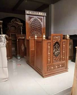 Mimbar masjid minimalis gratis tongkat