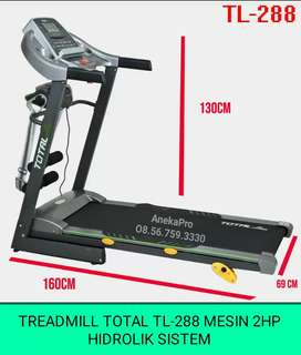 TL-288 Treadmill Total 3 Fungsi Mesin 2Hp