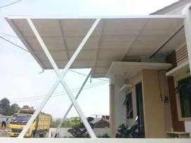 $$00028$$ canopy rangka tunggal tiang variasi atap alderon modern