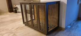 Wooden dog crate for giant breed