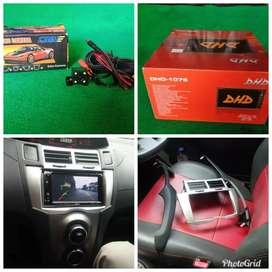2din tv BT +kamera atret +fream YARIS  plus pasang (udin audio)