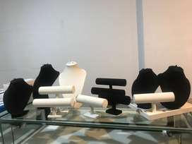 Manekin perhiasan/Pajangan display kalung, gelang, cincin