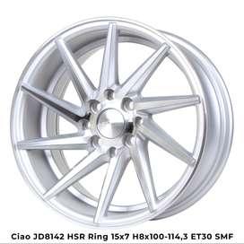 jual velg CIAO JD8142 HSR R15X7 H8X100-114,3 ET30 SMF