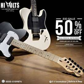 EID SALE! Avail up to 50% OFF on Guitars, Drums, Violins, Keyboards