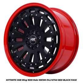 Harga velg MYTH07X HSR R18X8 H10X100-114,3 ET40 RED/BK FACE